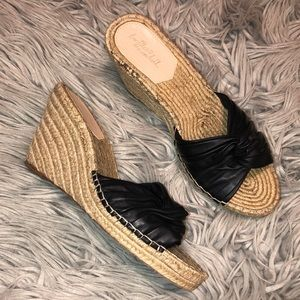 Loeffler Randall wedge leather espadrilles 9